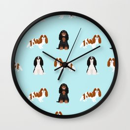 Cavalier King Charles Spaniel mixed coats dog breed must have cavalier spaniels gifts Wall Clock