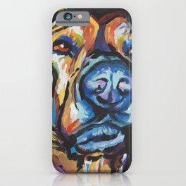 Fun Plott Hound Dog Portrait bright colorful Pop Art iPhone Case