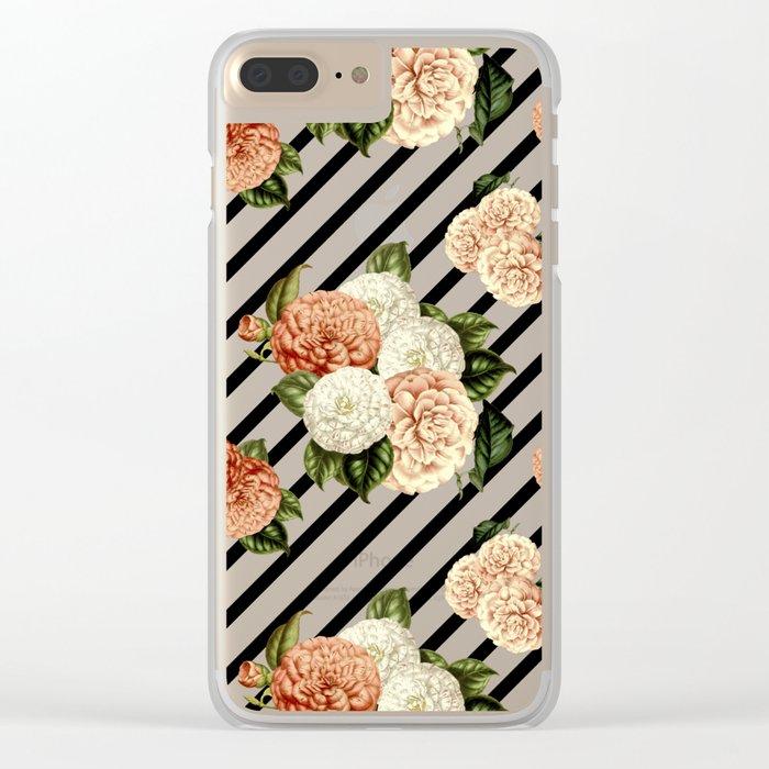 Chrysanthemum Rain Clear iPhone Case