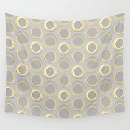 Solar Eclipse MCM Gray-Yellow Wall Tapestry