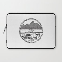 Grand Teton National Park Illustration Laptop Sleeve