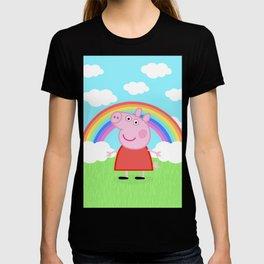 Peppa w/ rainbow T-shirt