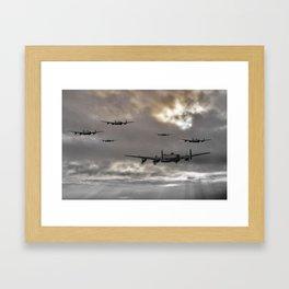 Lancaster Raid Framed Art Print