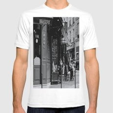 At the Brasserie MEDIUM Mens Fitted Tee White