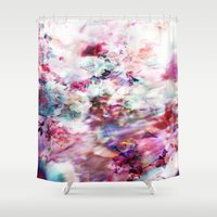 neon Shower Curtains featuring Neon by LutraLutraCards