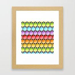 Rainbow Dotty Stripes Framed Art Print