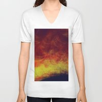 desert V-neck T-shirts featuring desert by donphil
