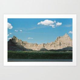 Badlands National Park (35mm Film)  Art Print