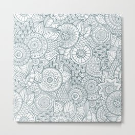 Pattern flower Metal Print