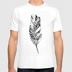 Feather - Lucidity MEDIUM White Mens Fitted Tee