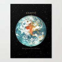 earth Canvas Prints featuring Earth by Terry Fan