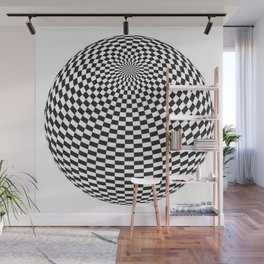 Squares On The Ball Wall Mural