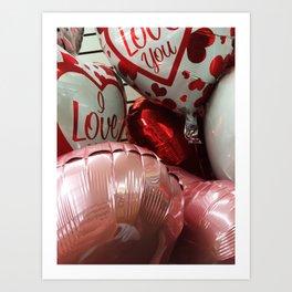 Valentine's Balloons Art Print
