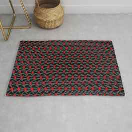 Covered in Vinyl / Vinyl records arranged in scale pattern Rug