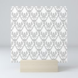 Damask style. A repeating pattern of thistle, the symbol of Scotland, a sharp flower. Mini Art Print