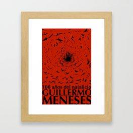 100 años natalicio de Guillermo Menese Framed Art Print