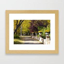 Assiniboine Park Fall Path Framed Art Print