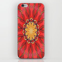 Ochre and Red Abstract Kaleidoscope iPhone Skin