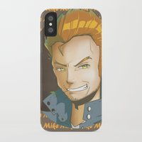 mike wrobel iPhone & iPod Cases featuring Mike  by EY Cartoons
