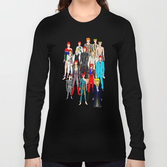 Bowie Doodle Square Long Sleeve T-shirt
