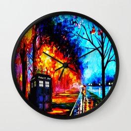 Tardis Style Wall Clock