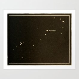 Astronomy for the Use of Schools and Academies (1882) - Scorpio, Sagittarius, Ophiuchus Art Print