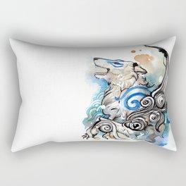 Blue Okami Amaterasu Rectangular Pillow