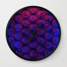 Blue hexagonal honeycomb Wall Clock