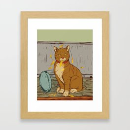 The Cat That Ate the Canary Framed Art Print
