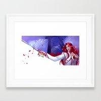 utena Framed Art Prints featuring Duelist by franzkatter