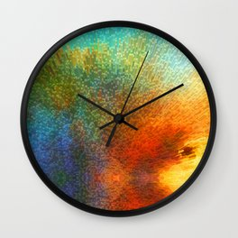 Color Infinity - Abstract Art By Sharon Cummings Wall Clock