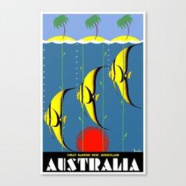 Australia Great Barrier Reef Queensland Canvas Print