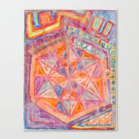 sacred geometry Canvas Prints featuring Sacred Geometry  by Little Panda