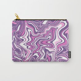 Pink & purple liquid marble Carry-All Pouch