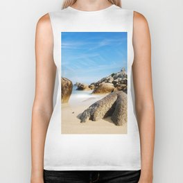 Lighthouse on Brittany Beach Biker Tank