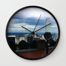 Top of the Rock View over Manhattan Wall Clock