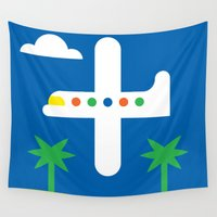 airplane Wall Tapestries featuring Airplane by Alberto Antoniazzi