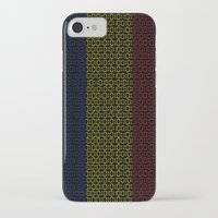 chad wys iPhone & iPod Cases featuring digital Flag (Chad) by seb mcnulty