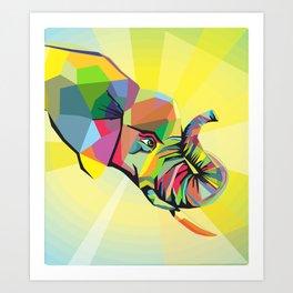 elephant wpap Art Print