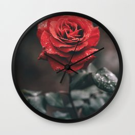 ROSE - WET - DEW - WATER Wall Clock