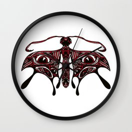 Cherry Moth Wall Clock