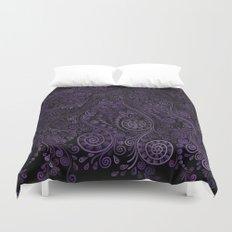Purple ornaments Duvet Cover