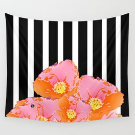 Poppy Stripes - Pink Wall Tapestry