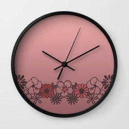 Kitschy Flower Medley Pink Wall Clock