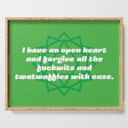 Open heart (Heart Chakra Affirmation) Serving Tray