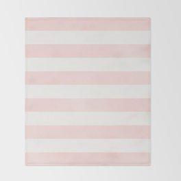 Pink Coral Stripes Throw Blanket