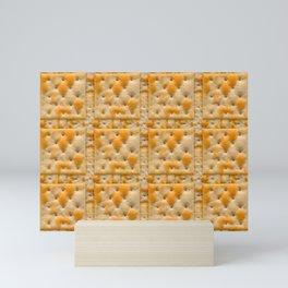 Salted Soda Crackers Food Photo Tile Pattern Mini Art Print