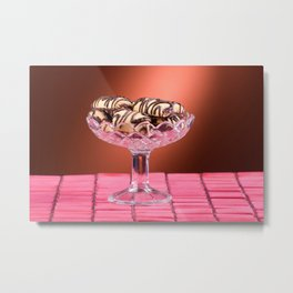 sponge cookies with chocolate icing Metal Print