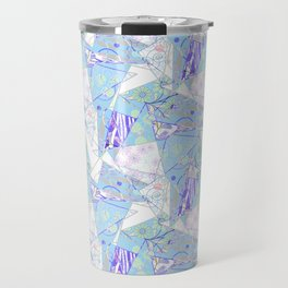 Abstract, floral, geometric pattern. Travel Mug