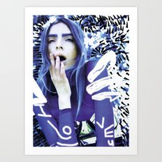 bLUE aLIEN REMIX Art Print